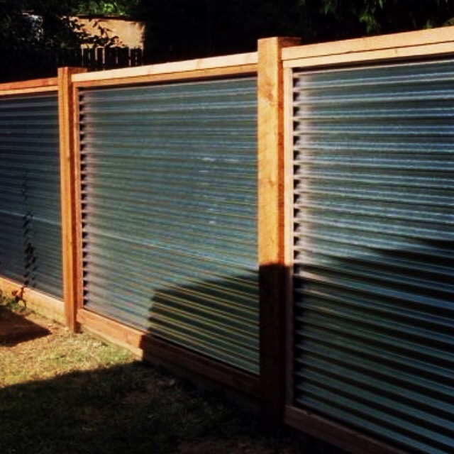 Horizontal Corrugated With Cedar Fence Bockman Group
